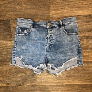 Express Shortie Vintage High Rise Denim Shorts